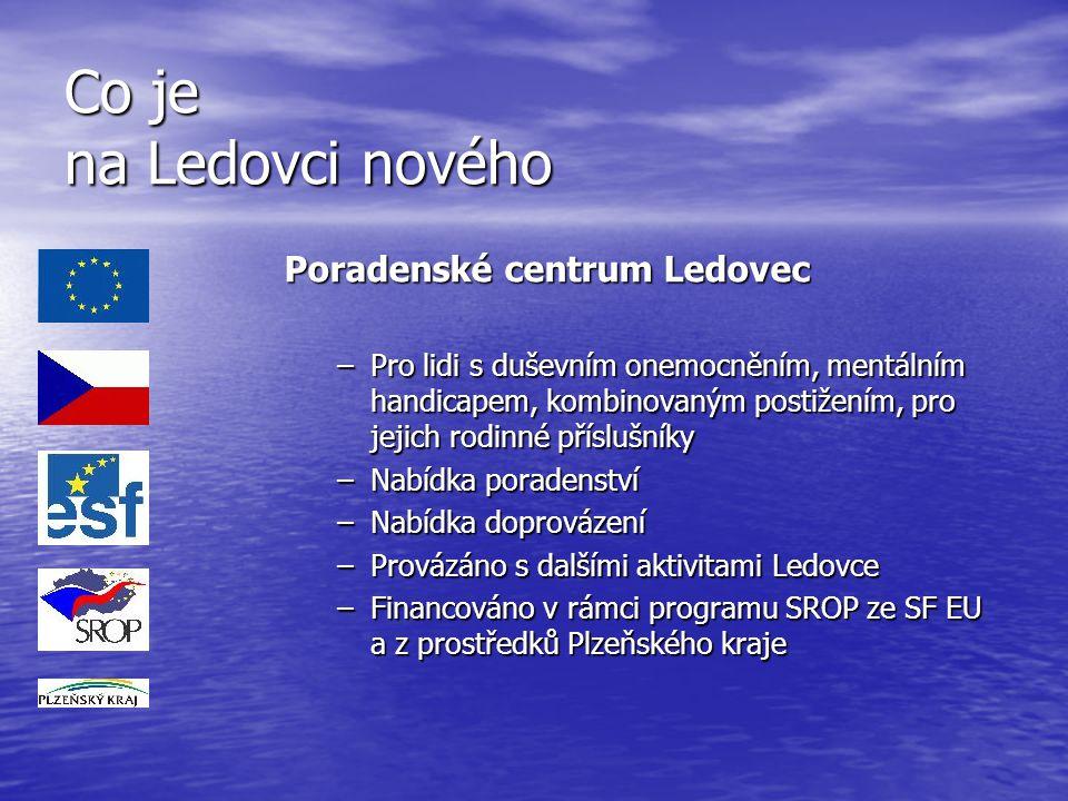 Co je na Ledovci nového Poradenské centrum Ledovec