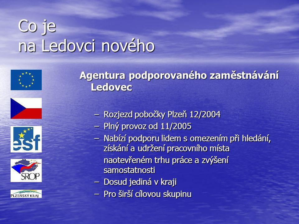 Co je na Ledovci nového Agentura podporovaného zaměstnávání Ledovec
