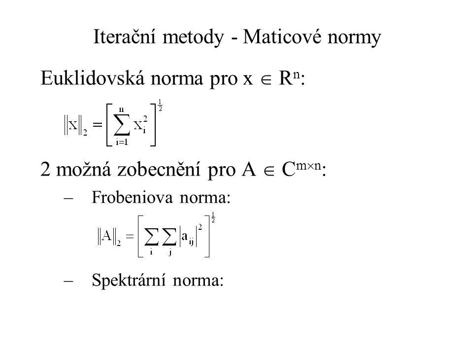 Iterační metody - Maticové normy