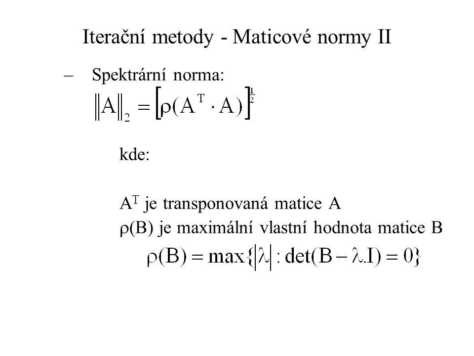 Iterační metody - Maticové normy II