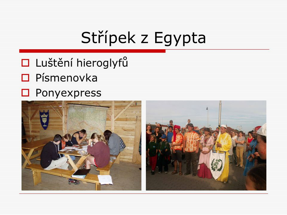 Střípek z Egypta Luštění hieroglyfů Písmenovka Ponyexpress