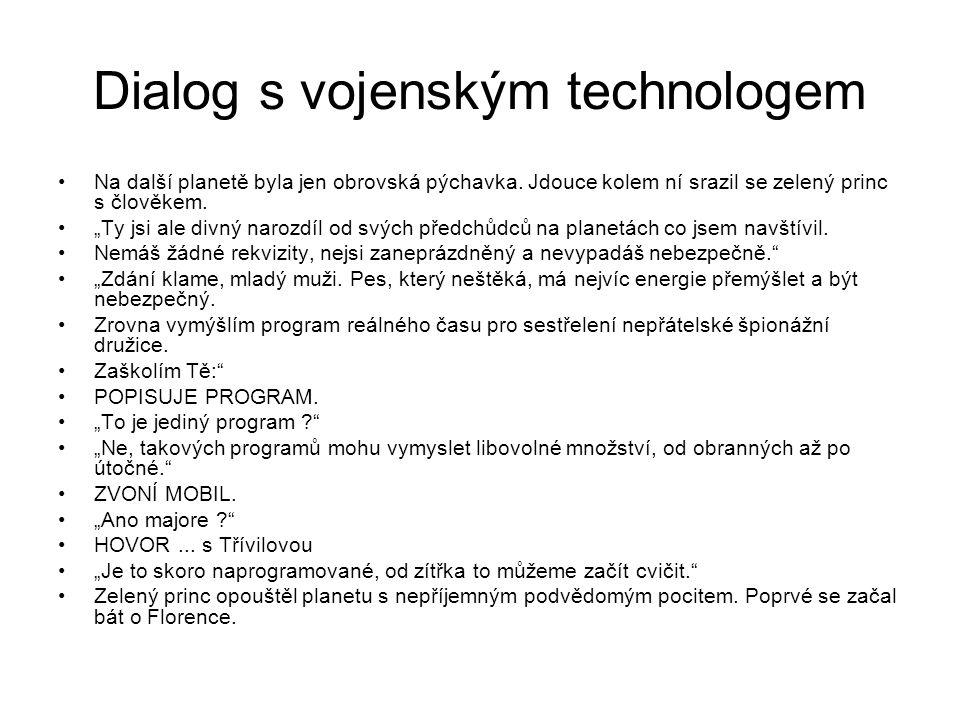 Dialog s vojenským technologem