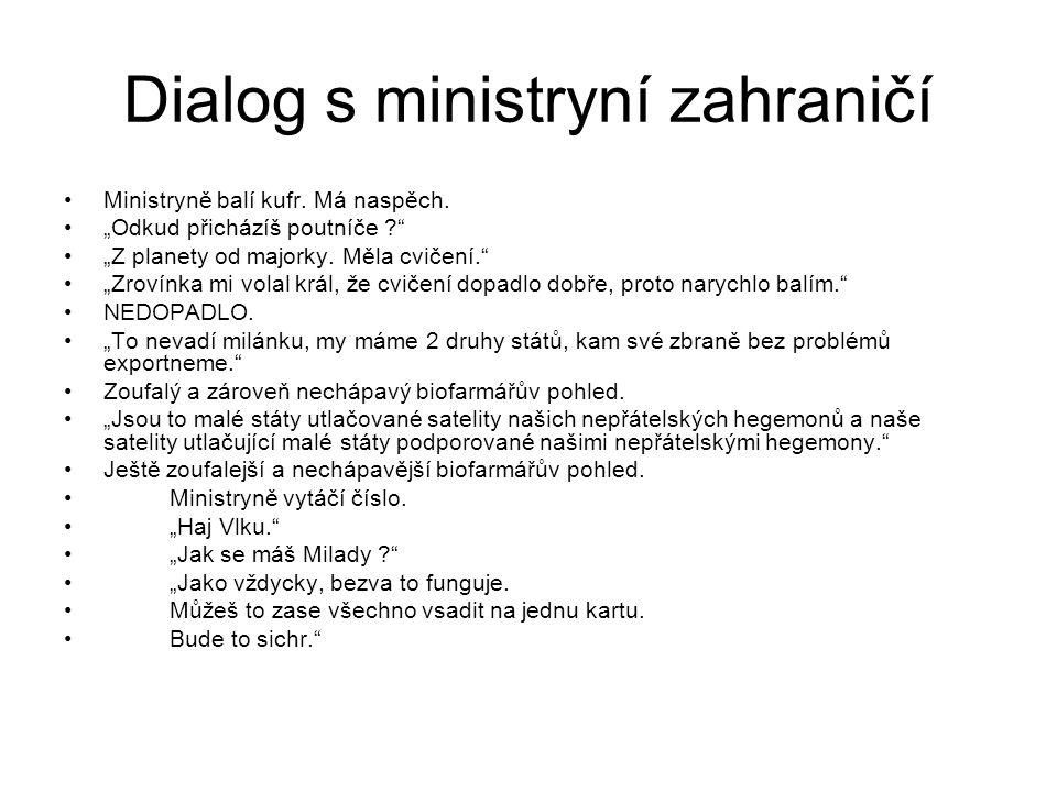 Dialog s ministryní zahraničí