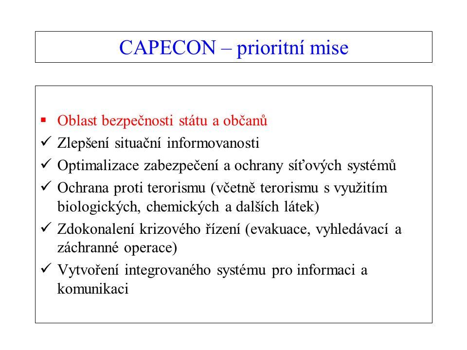 CAPECON – prioritní mise