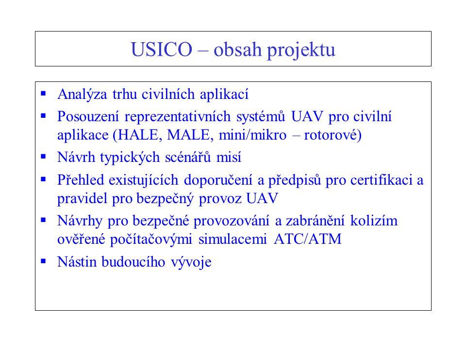 USICO – obsah projektu Analýza trhu civilních aplikací