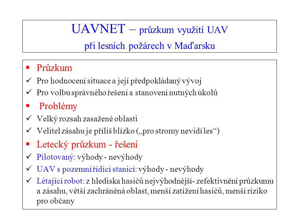 UAVNET – průzkum využití UAV při lesních požárech v Maďarsku