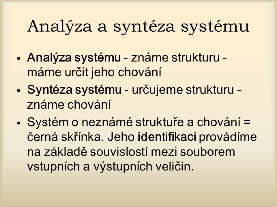 Analýza a syntéza systému