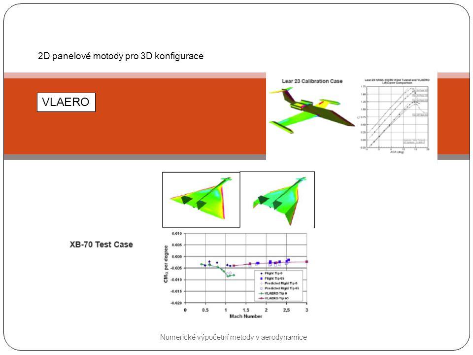 VLAERO 2D panelové motody pro 3D konfigurace