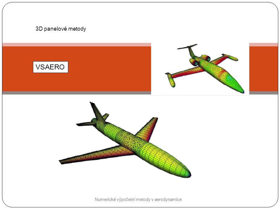 3D panelové metody VSAERO Numerické výpočetní metody v aerodynamice