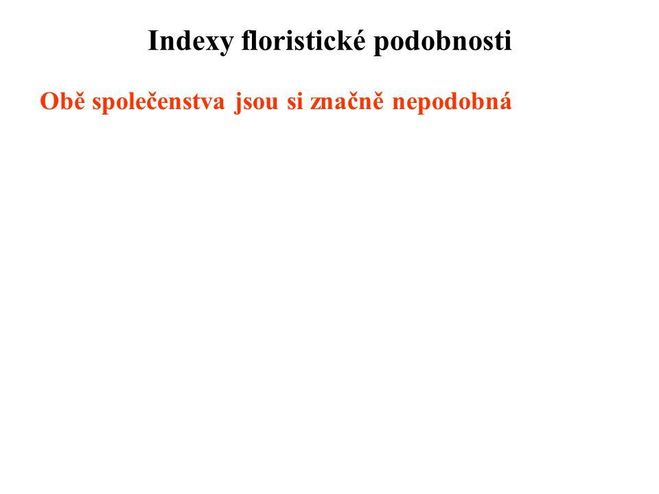 Indexy floristické podobnosti
