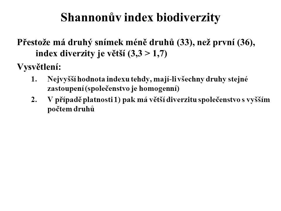 Shannonův index biodiverzity