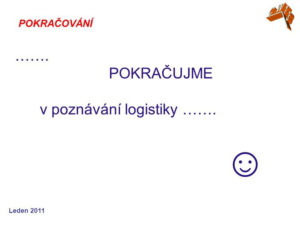 ……. POKRAČUJME v poznávání logistiky ……. ☺