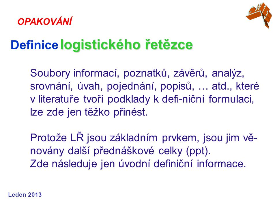 Definice logistického řetězce