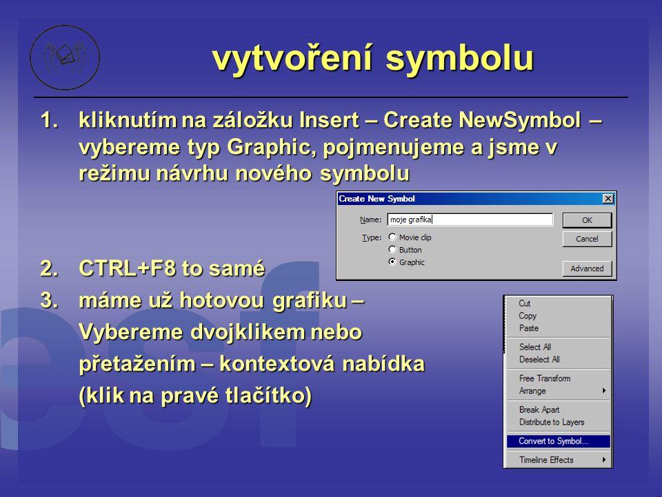 vytvoření symbolu kliknutím na záložku Insert – Create NewSymbol – vybereme typ Graphic, pojmenujeme a jsme v režimu návrhu nového symbolu.