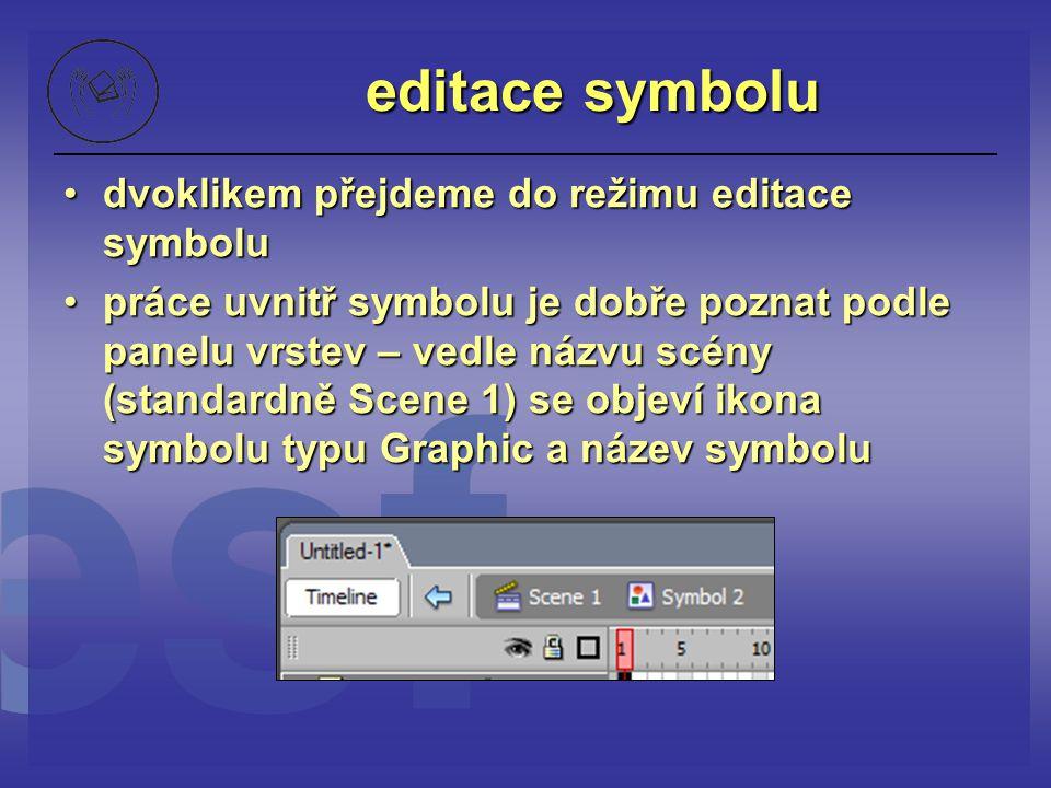 editace symbolu dvoklikem přejdeme do režimu editace symbolu