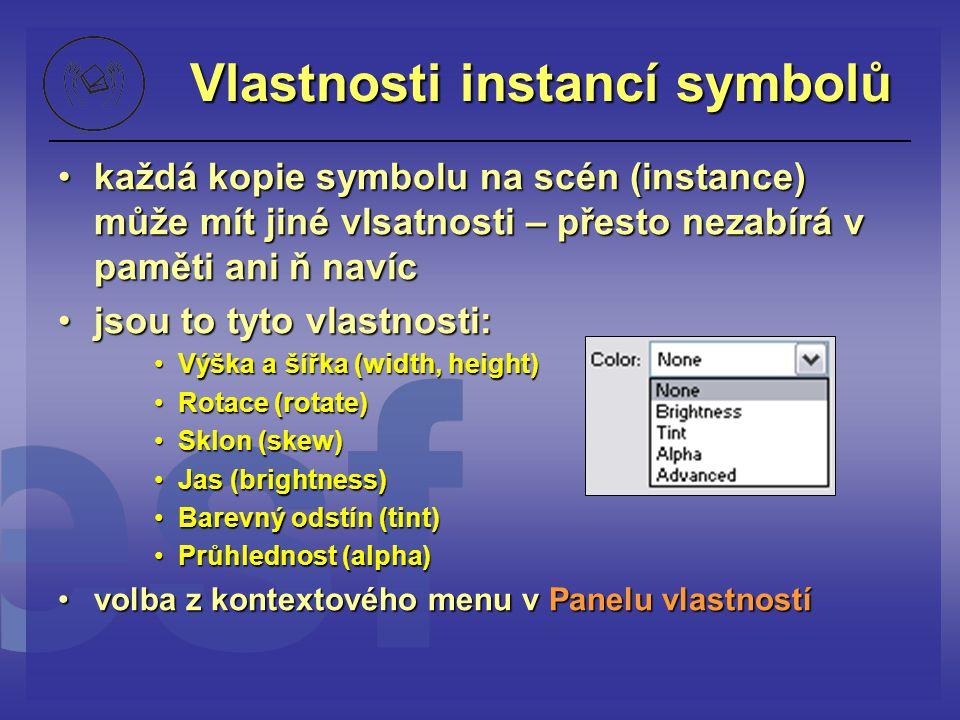 Vlastnosti instancí symbolů