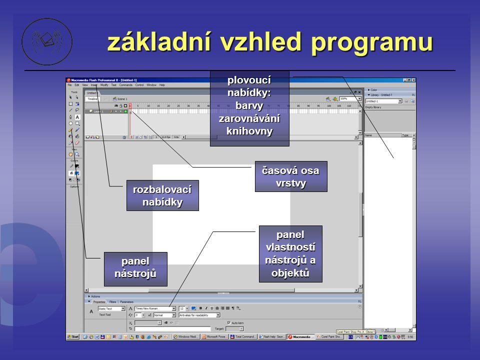 základní vzhled programu