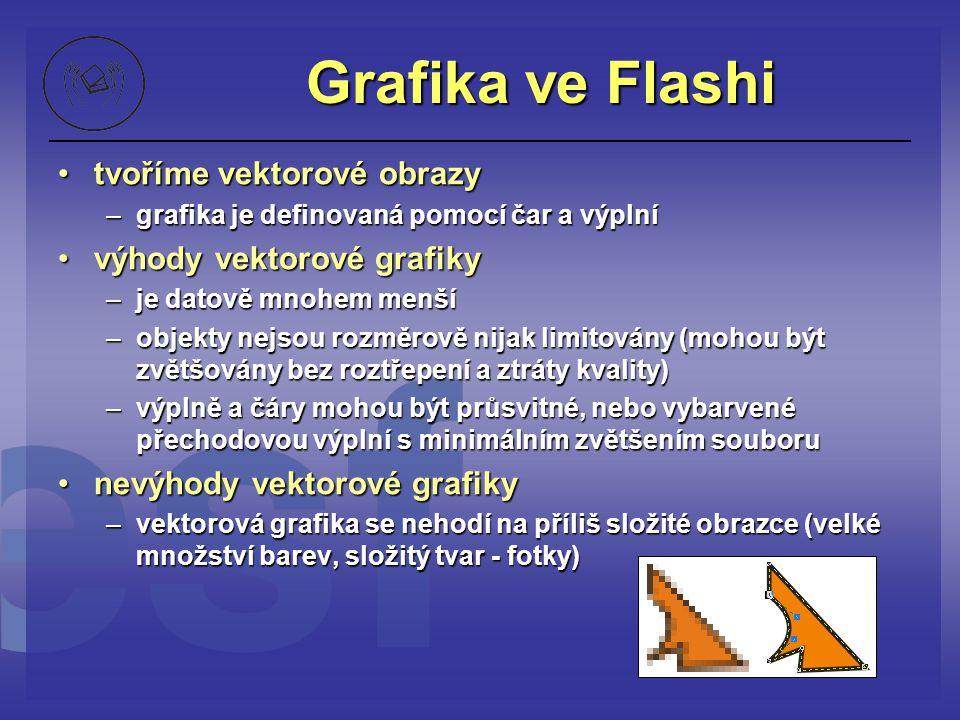 Grafika ve Flashi tvoříme vektorové obrazy výhody vektorové grafiky