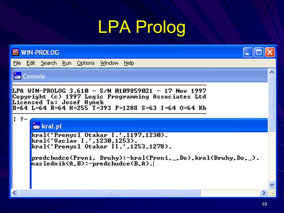 LPA Prolog