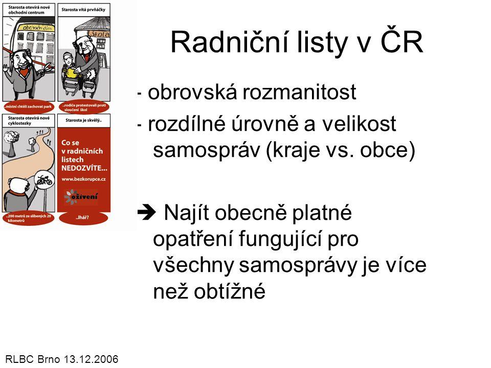 Radniční listy v ČR - obrovská rozmanitost