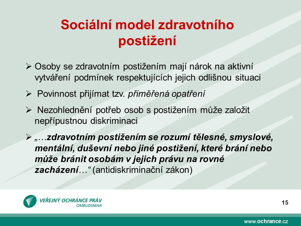 Sociální model zdravotního postižení