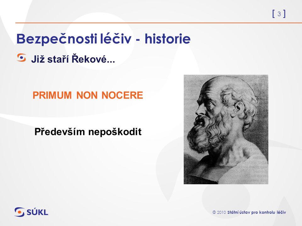 Bezpečnosti léčiv - historie