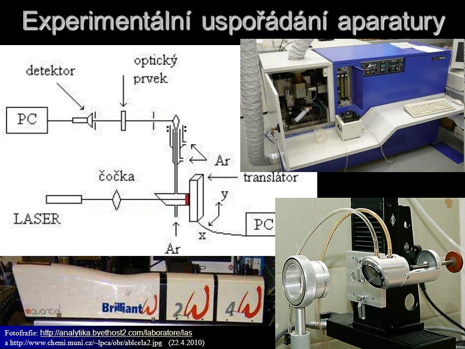 Experimentální uspořádání aparatury