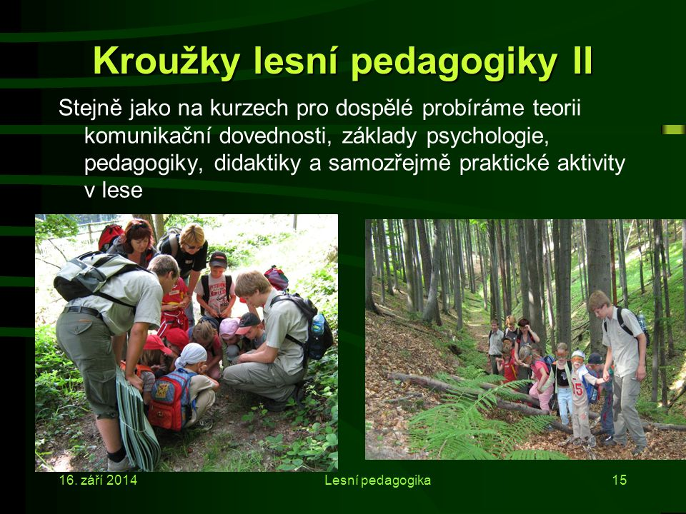 Kroužky lesní pedagogiky II