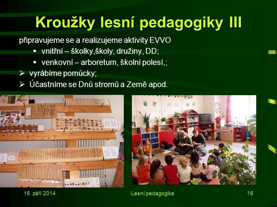 Kroužky lesní pedagogiky III
