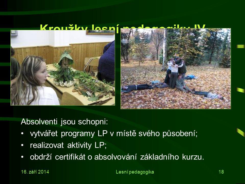 Kroužky lesní pedagogiky IV