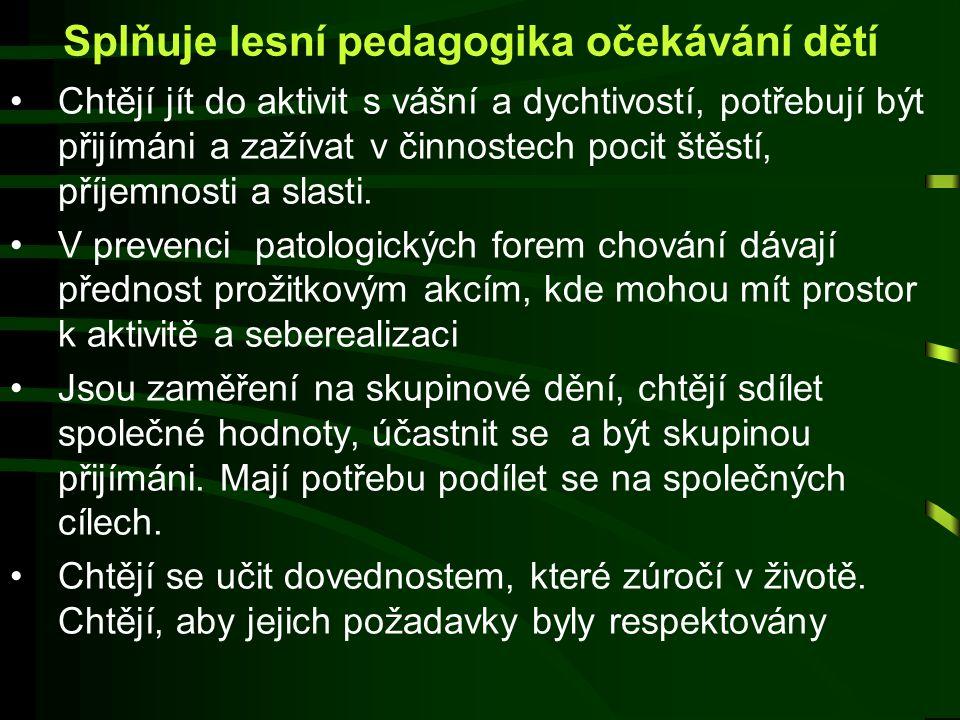 Splňuje lesní pedagogika očekávání dětí