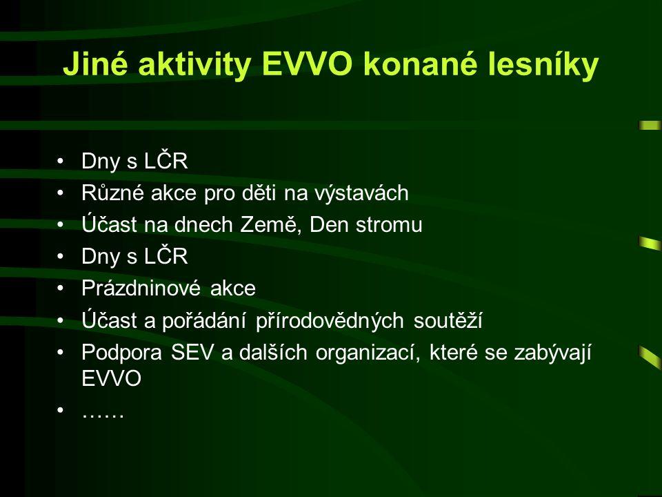 Jiné aktivity EVVO konané lesníky