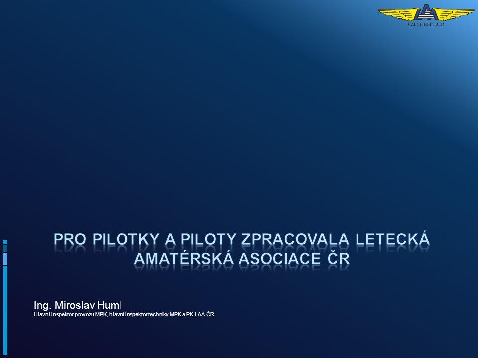 Pro pilotky a piloty zpracovala Letecká amatérská asociace ČR