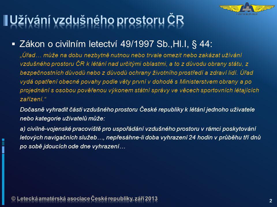 Užívání vzdušného prostoru ČR