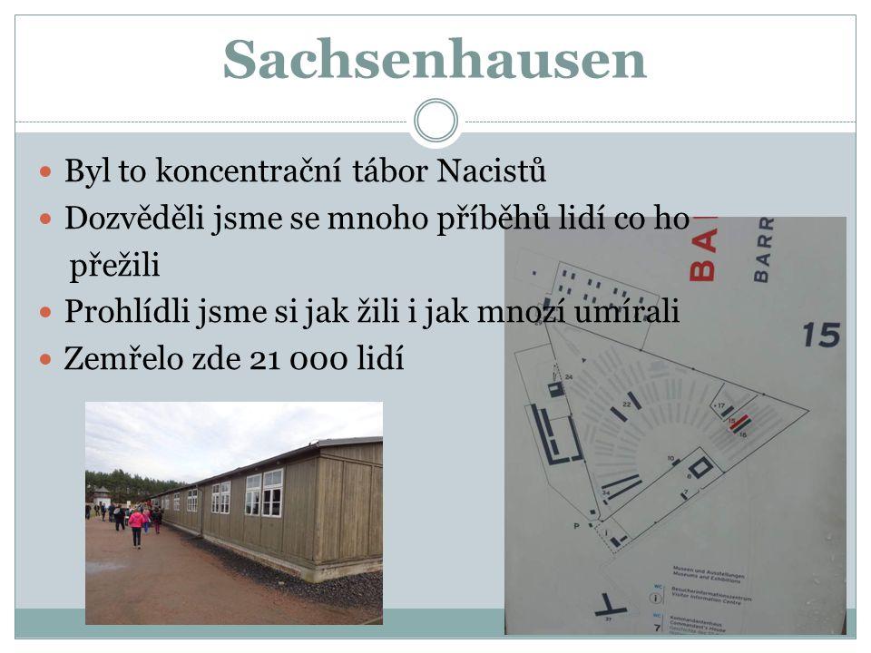 Sachsenhausen Byl to koncentrační tábor Nacistů
