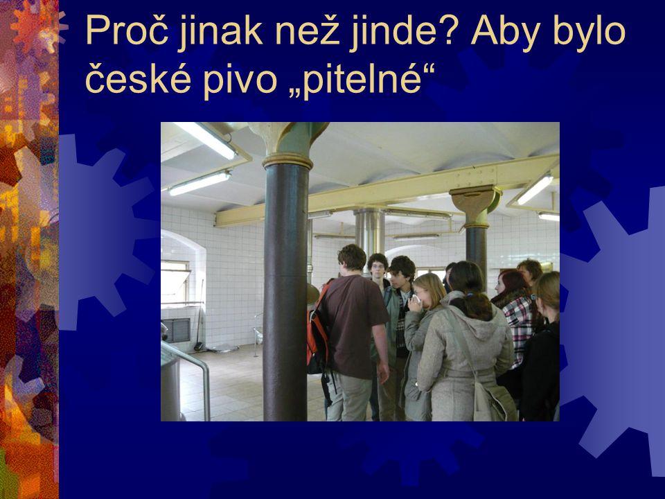 """Proč jinak než jinde Aby bylo české pivo """"pitelné"""