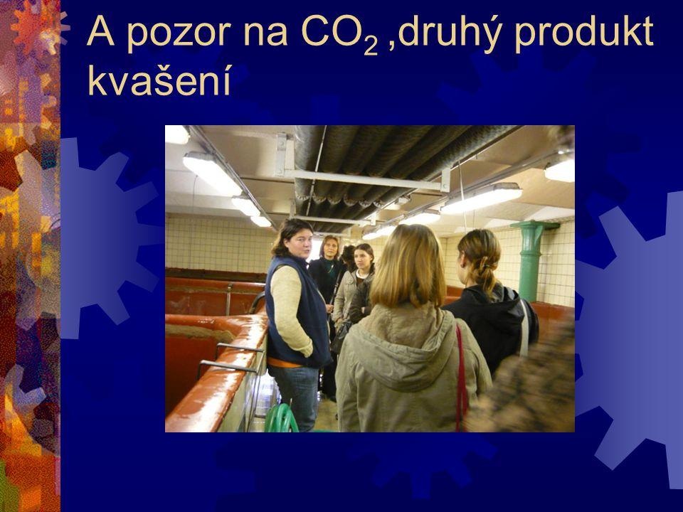 A pozor na CO2 ,druhý produkt kvašení