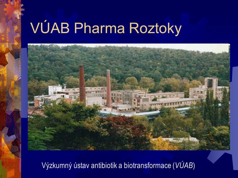 VÚAB Pharma Roztoky Výzkumný ústav antibiotik a biotransformace (VÚAB)