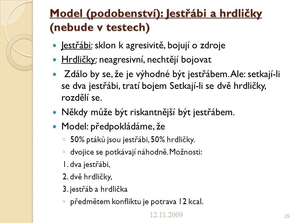 Model (podobenství): Jestřábi a hrdličky (nebude v testech)