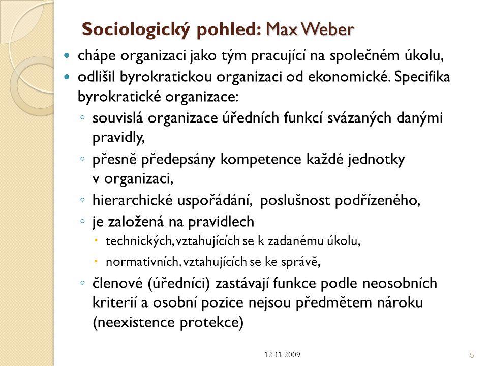 Sociologický pohled: Max Weber