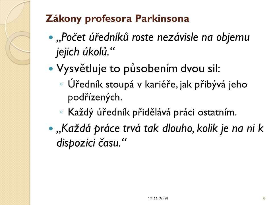 Zákony profesora Parkinsona