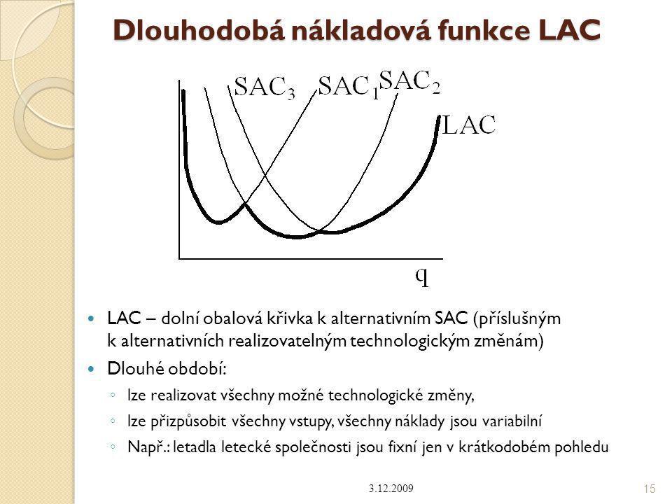 Dlouhodobá nákladová funkce LAC