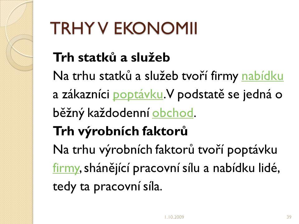 TRHY V EKONOMII