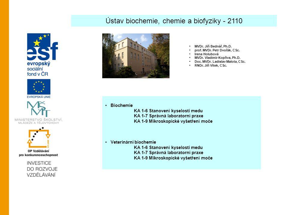 Ústav biochemie, chemie a biofyziky - 2110