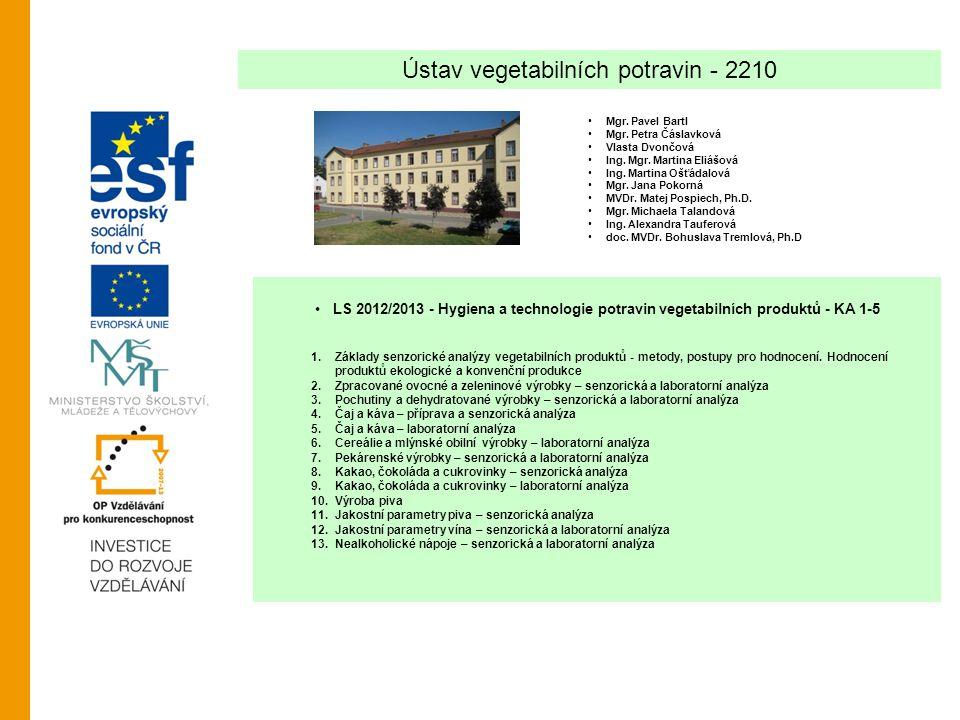 Ústav vegetabilních potravin - 2210