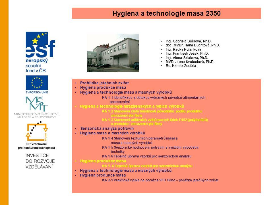 Hygiena a technologie masa 2350