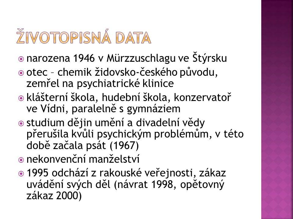 Životopisná Data narozena 1946 v Mürzzuschlagu ve Štýrsku