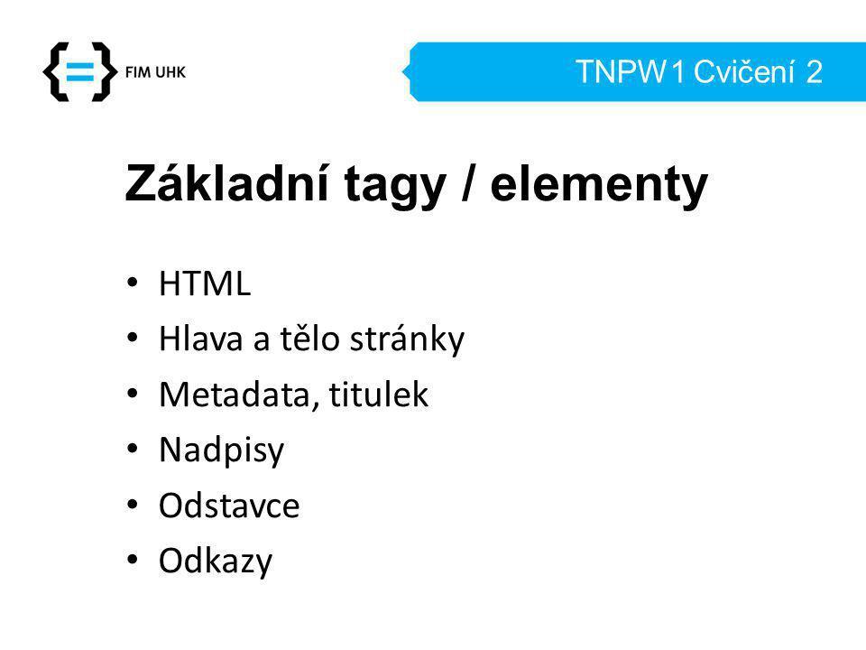Základní tagy / elementy