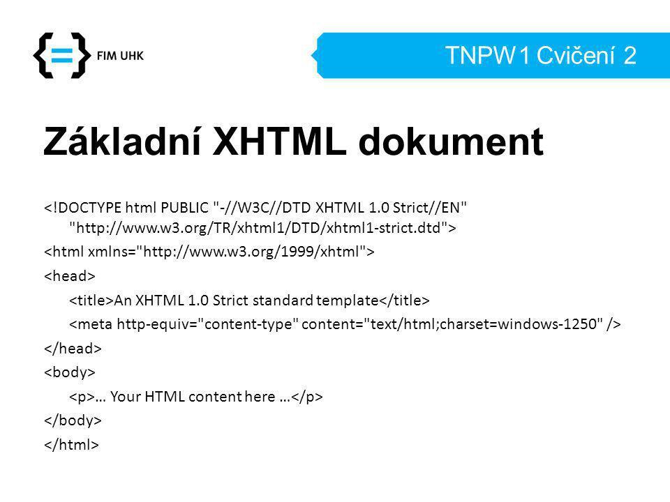 Základní XHTML dokument