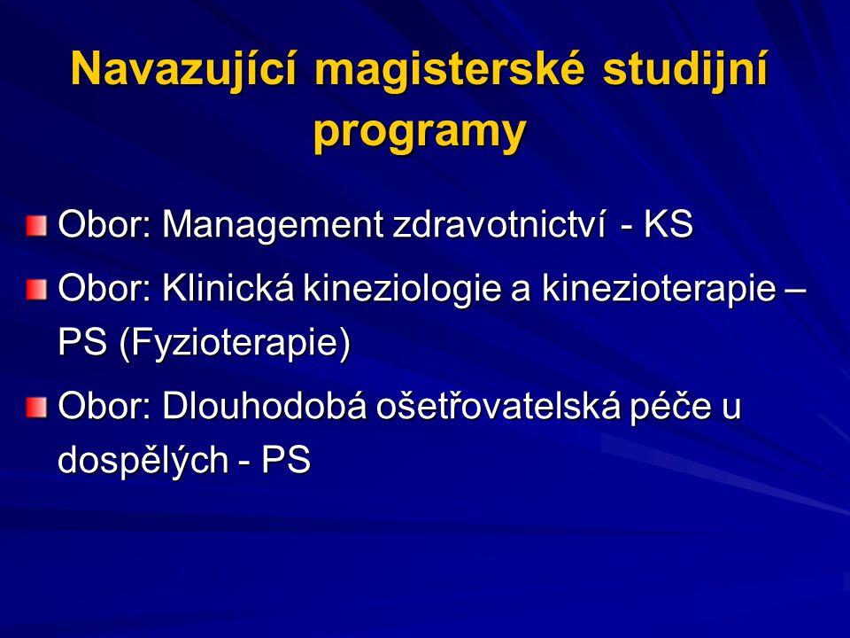 Navazující magisterské studijní programy